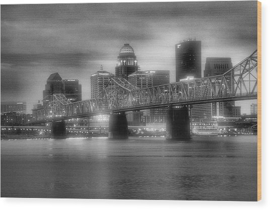 Gritty City Wood Print
