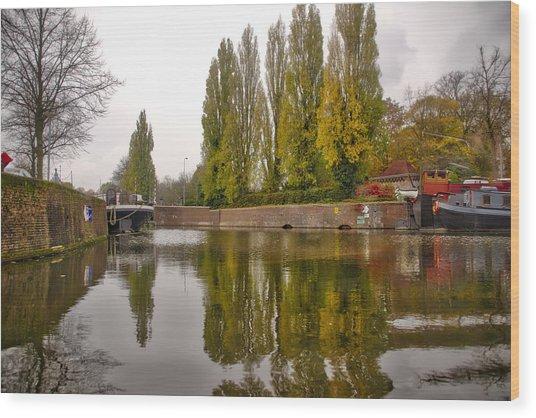 Groningen Canal Wood Print