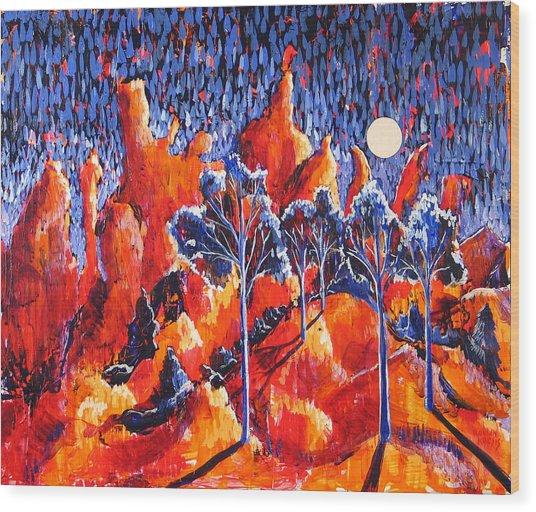 Grove Wood Print by Rollin Kocsis