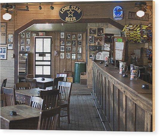 Gruene Hall Bar Wood Print