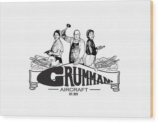 Grumman Aircraft Est 1929 Wood Print