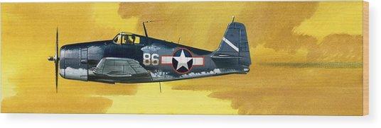 Grumman F6f-3 Hellcat Wood Print