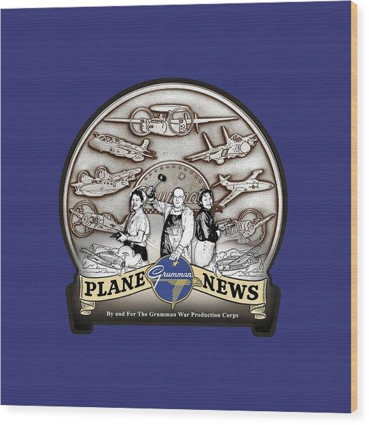 Grumman Plane News Wood Print