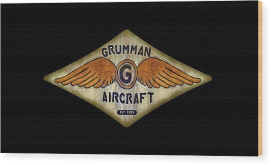 Grumman Wings Diamond Wood Print