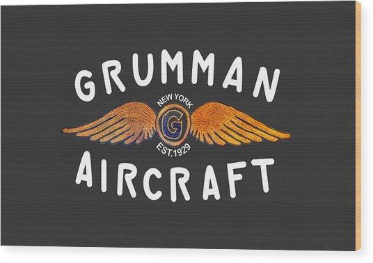 Grumman Wings Gold Wood Print