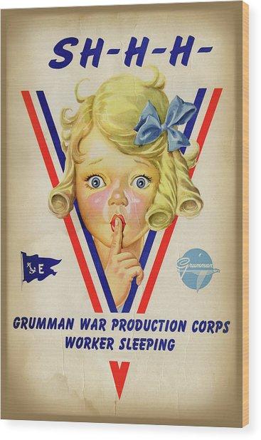 Grumman Worker Sleeping Poster Wood Print