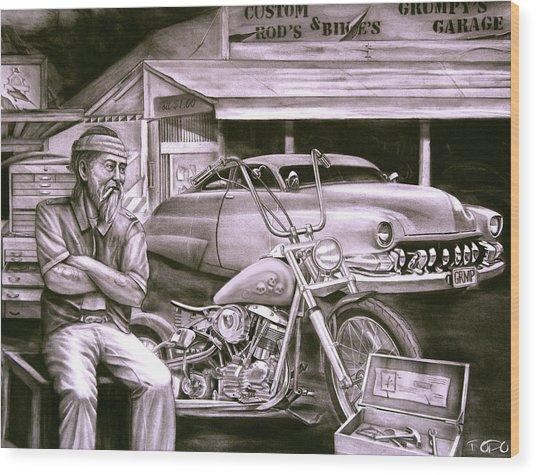 Grumpy 39 s garage drawing by todo brennan for Garage prints