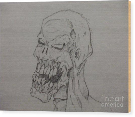 Grunt Wood Print by John Prestipino