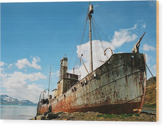 Grytviken Whaler Wood Print