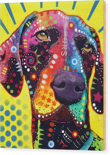 Gsp German Shorthair Pointer Wood Print