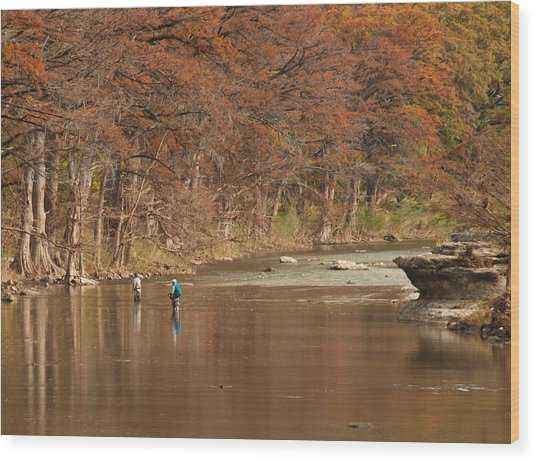 Guadalupe River Fly Fishing Wood Print