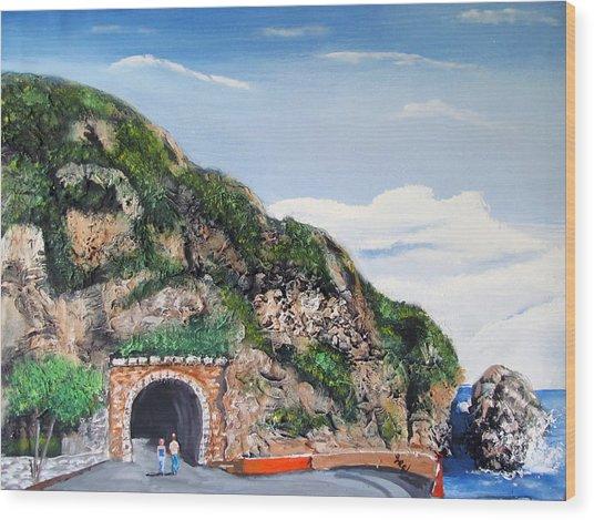 Guajataca Tunnel Wood Print
