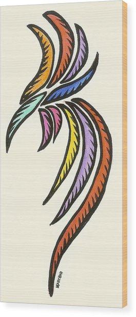 Guam Cock 2009 Wood Print by Marconi Calindas