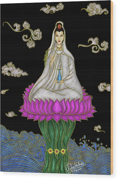 Guan Yin Wood Print