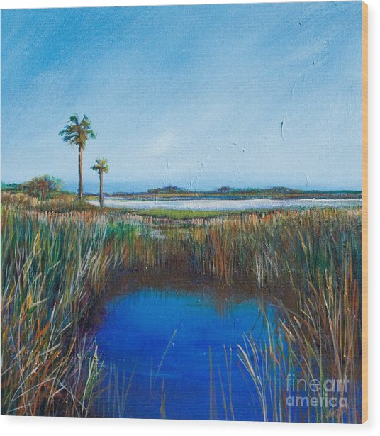 Guana River Lll Wood Print by Michele Hollister - for Nancy Asbell