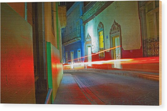 Wood Print featuring the photograph Guanajuato Night by Skip Hunt