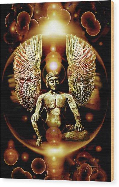 Guardian  Archangel Wood Print