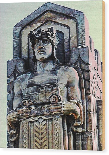 Guardian Of Traffic Wood Print by Donna Stewart