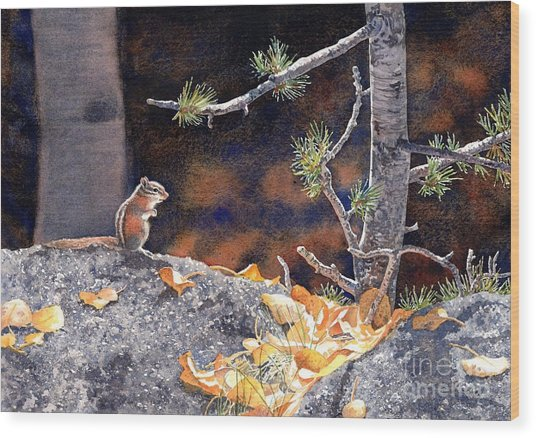 Guarding The Gold Wood Print by Lorraine Watry