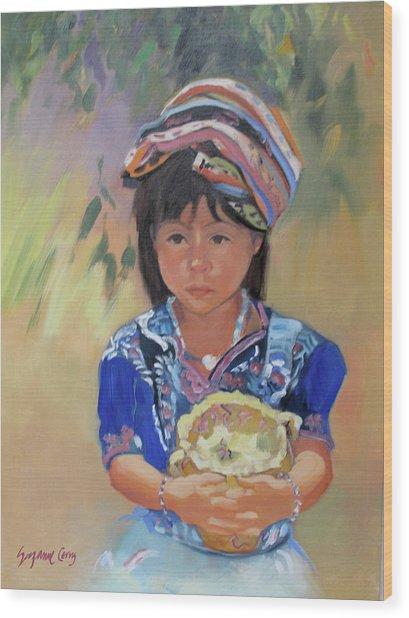 Guatemalan Girl Wood Print