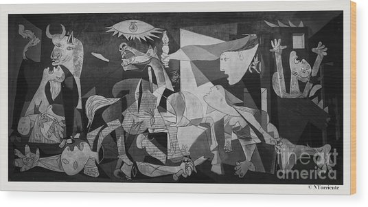 F 38 Guernica Photo  Wood Print by Norberto Torriente