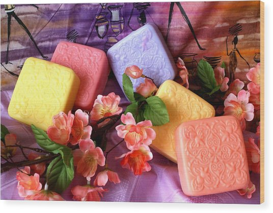 Guest Soaps Wood Print by Sonja Anderson