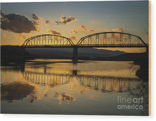 Guffey Bridge At Sunset Idaho Journey Landscape Photography By Kaylyn Franks Wood Print