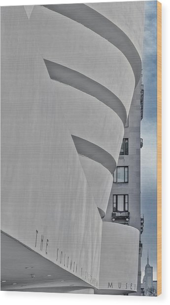 Wood Print featuring the photograph Guggenheim Museum And Esb by Susan Candelario