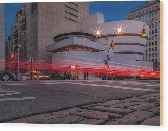Wood Print featuring the photograph Guggenheim Museum Nyc  by Susan Candelario