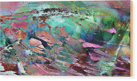 Wood Print featuring the mixed media Guided By Intuition - Abstract Art by Jaison Cianelli