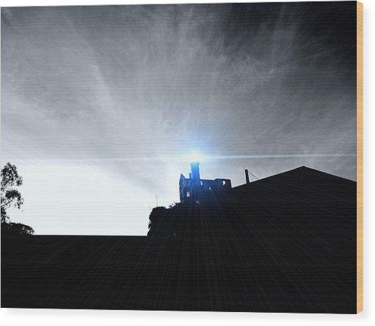 Guiding Light-alcatraz Wood Print