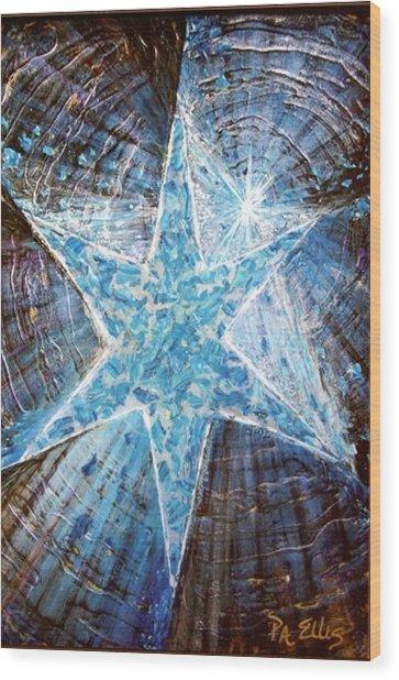 Guiding Light Wood Print by Pam Ellis