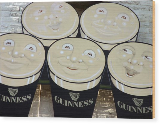 Guiness Time 2 Wood Print