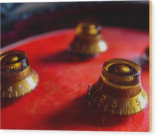 Guitar Controls Series Wood Print