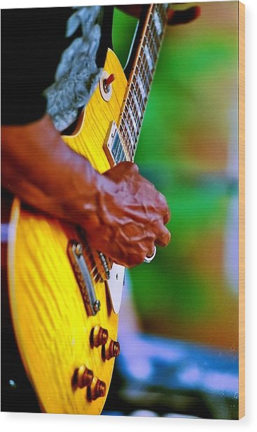 Guitar Hand Wood Print