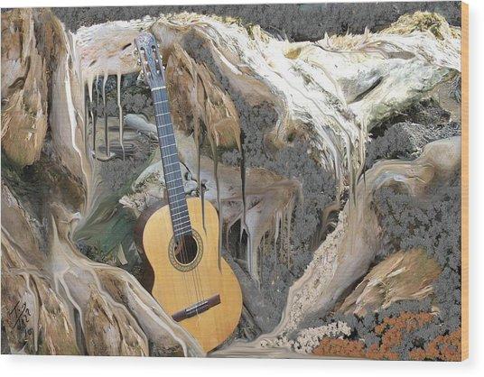 Guitar Purgatory Wood Print