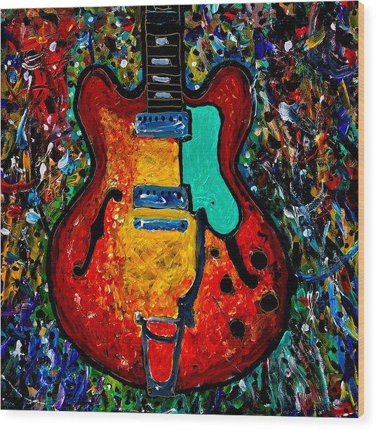 Guitar Scene Wood Print