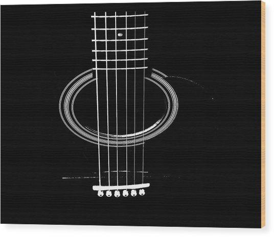 Guitar Strings Wood Print