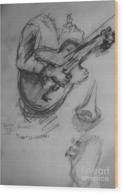 Guitarist Wood Print by Jamey Balester