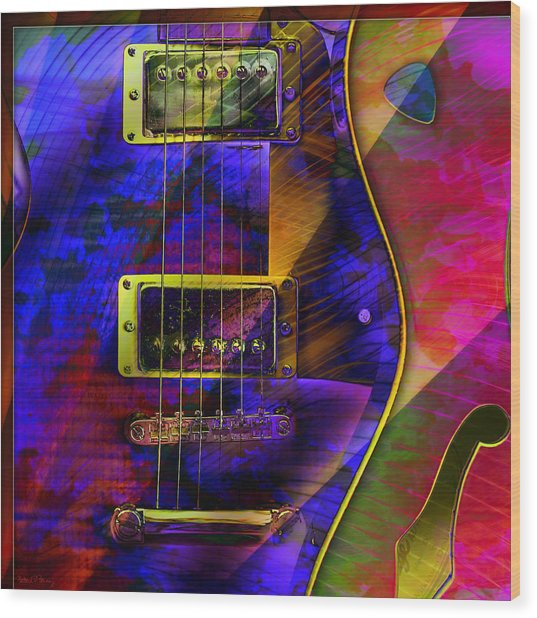 Guitars Wood Print