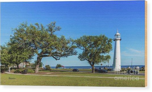 Gulf Coast Lighthouse Seascape Biloxi Ms 3663b Wood Print