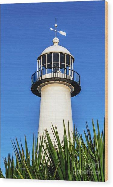 Gulf Coast Lighthouse Seascape Biloxi Ms 3819a Wood Print