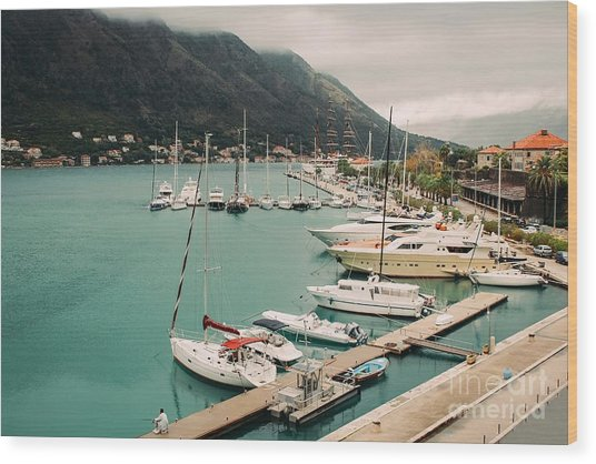 Gulf Of Kotor Wood Print