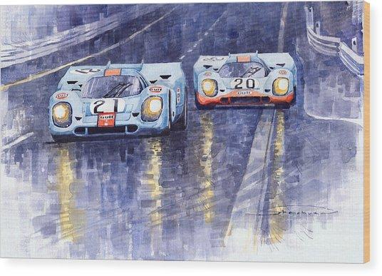 Gulf-porsche 917 K Spa Francorchamps 1970 Wood Print