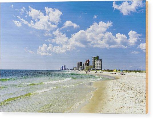 Gulf Shores Al Beach Seascape 1746a Wood Print