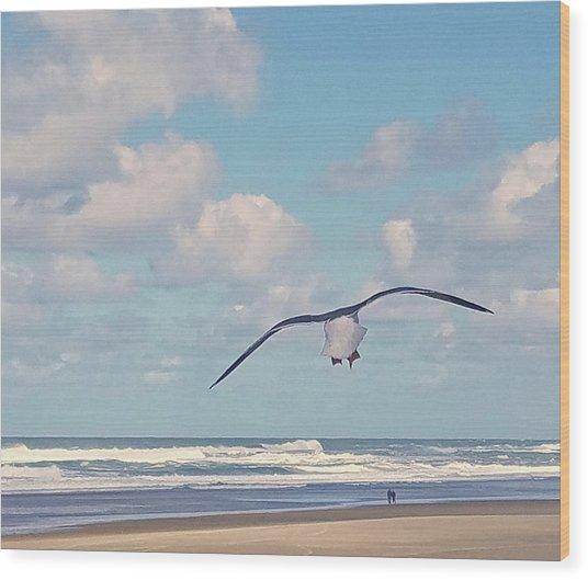 Gull Getaway Wood Print
