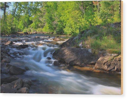 Gull River Falls - Gunflint Trail Minnesota Wood Print