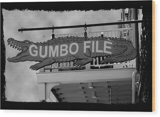 Gumbo File Wood Print by Linda Kish