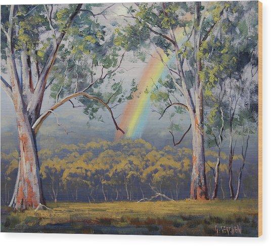 Gums With Rainbow Wood Print