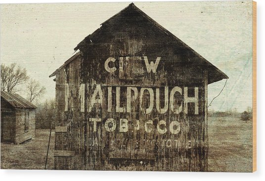 Grunge Mail Pouch Tobacco Barn Wood Print